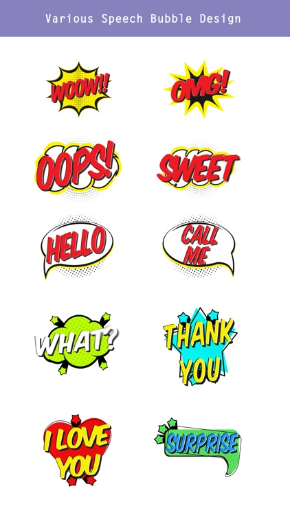 Animated Comic Speech Bubbles Pack Collection screenshot-3