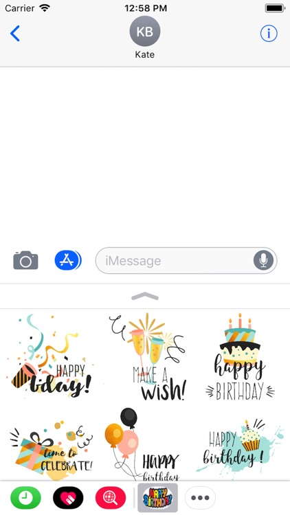 Happy Birthday Stickers 2018 screenshot-3