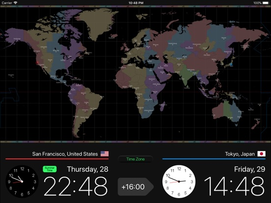 Globe Clock Screenshots