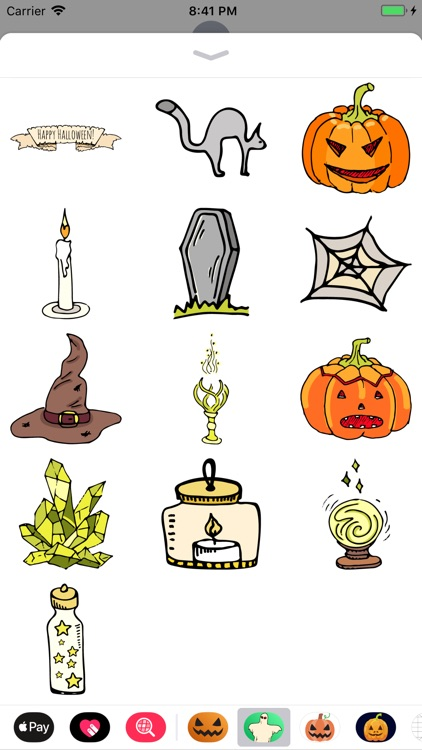 Happy Halloween Dark Sticker