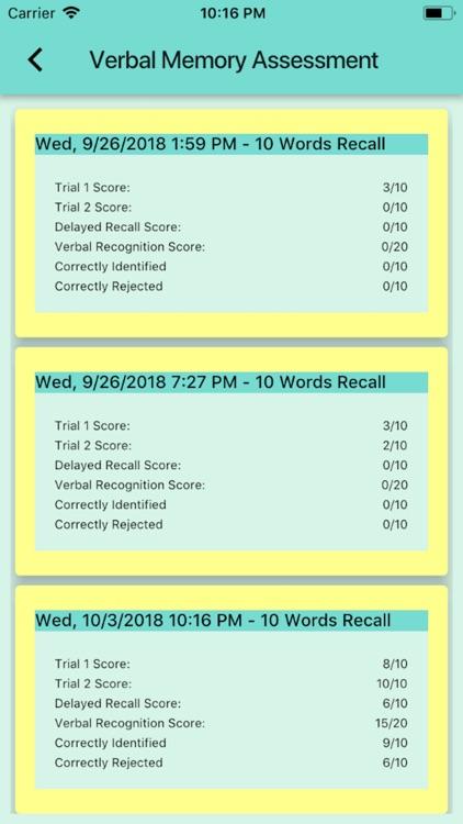 Verbal Memory Assessment screenshot-5