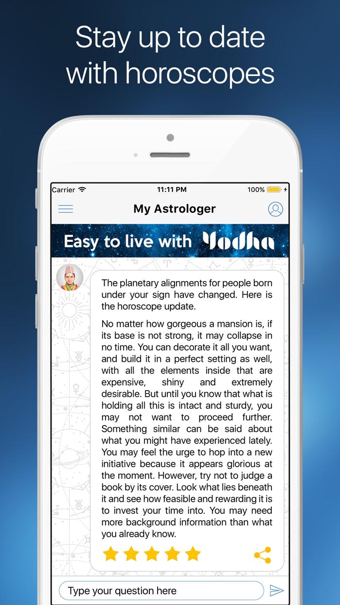 Yodha My Horoscope Screenshot