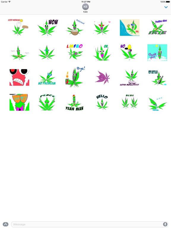 Animated Happy Weed Sticker screenshot 3