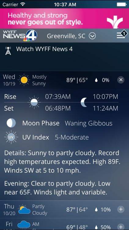 WYFF 4 Weather screenshot-4