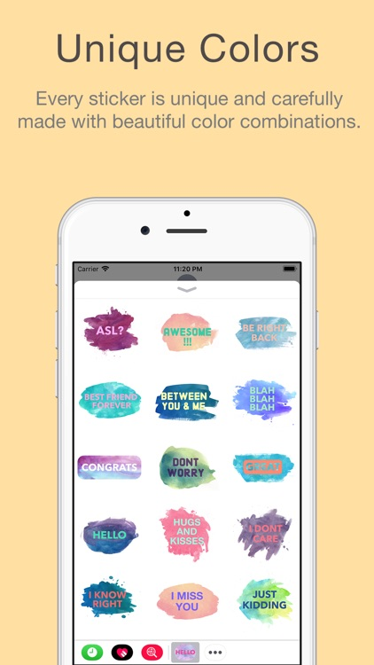 Watercolor Words Stickers screenshot-3
