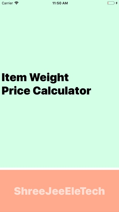 Item Weight/Price Calculator screenshot 1