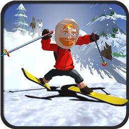 Xtreme hill Skiing Stuntman