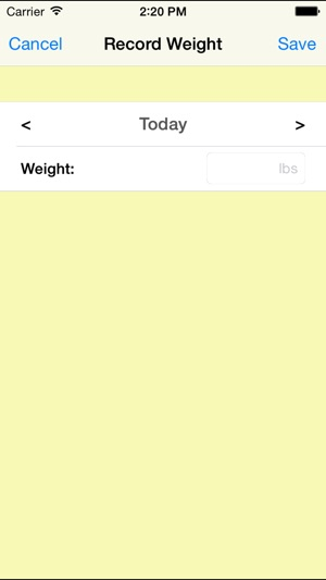 weight tracking app