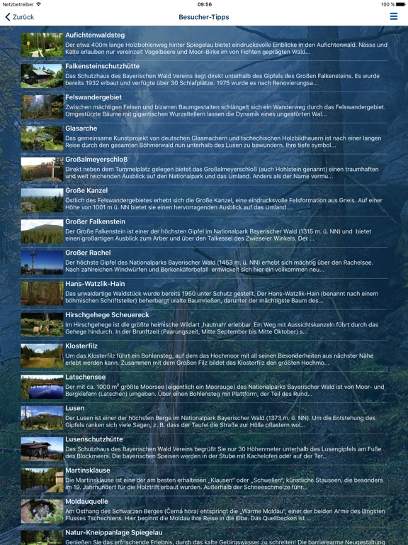 Nationalpark Bayerischer Wald iPad