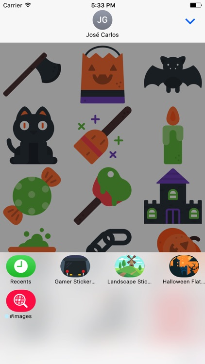 Halloween Flat Sticker Pack for iMessage screenshot-4