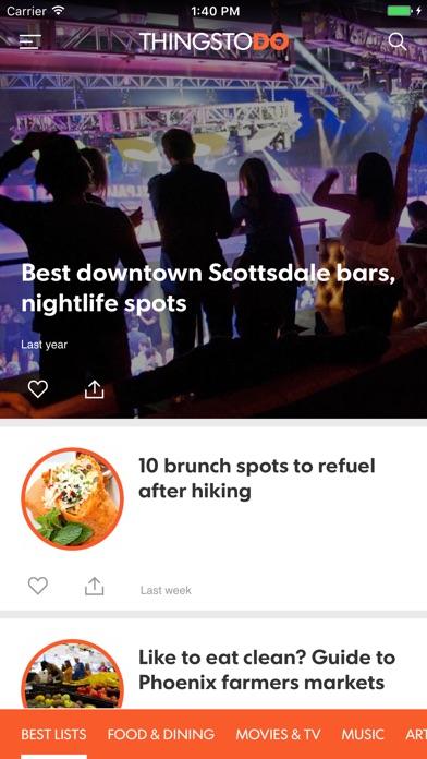 Things To Do Phoenix Screenshot on iOS