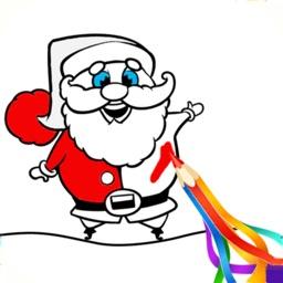 Christmas Santa Coloring Book