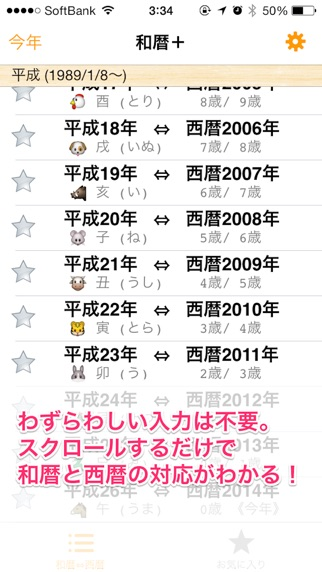 和暦+ 西暦との対応や年齢、干支、誕生日、... screenshot1