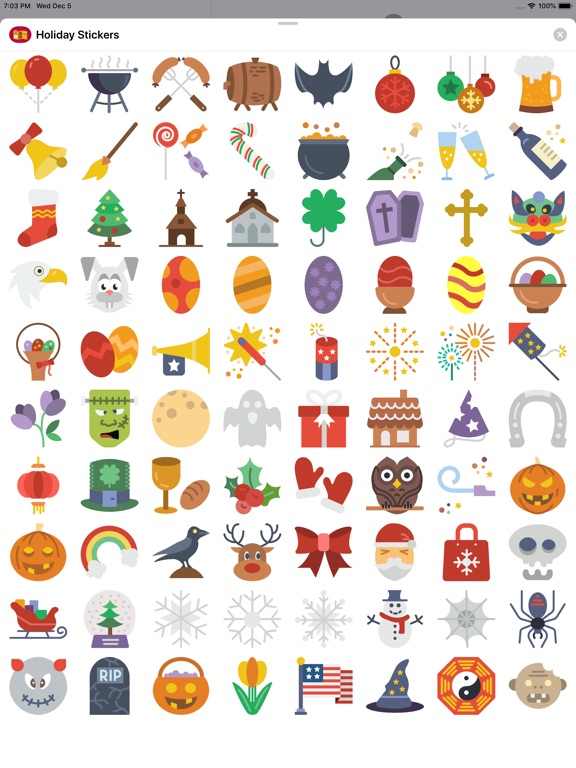 Happy Holiday Sticker Pack screenshot 6