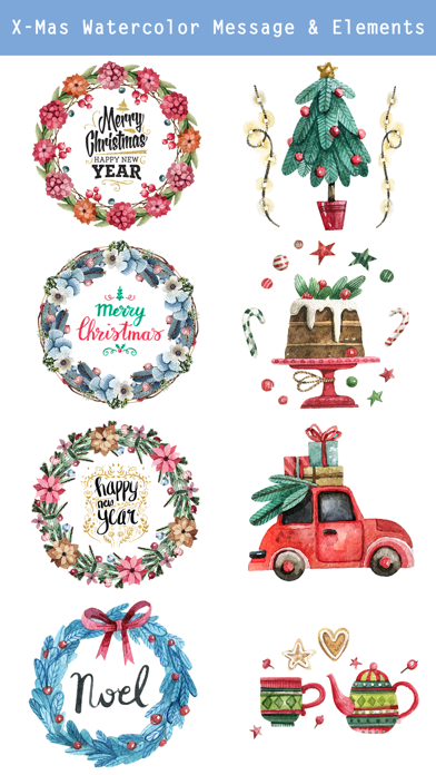 Beautiful Watercolor Christmas screenshot two