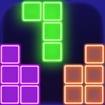 glow popping block puzzle game