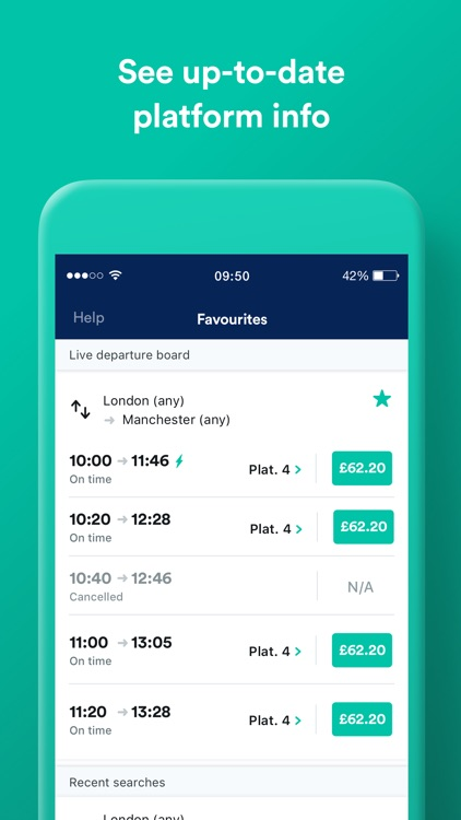 Trainline UK:  Train & Bus App screenshot-5