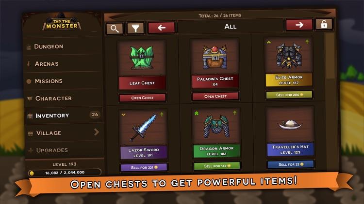 Tap the Monster - RPG clicker screenshot-3
