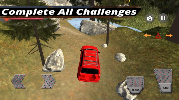 4x4 Car Challenge Hill Road