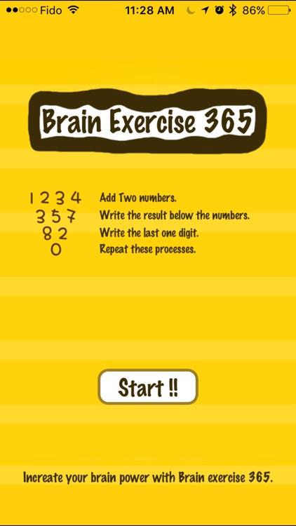Brain exercise 365