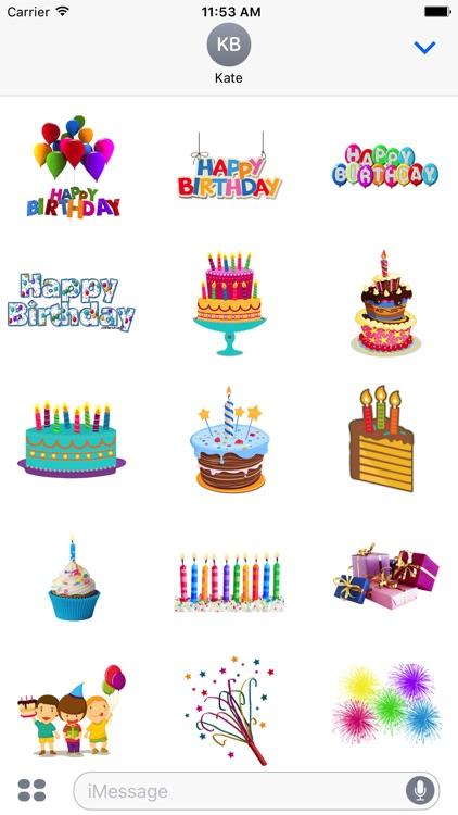 Birthday Stickers Celebration