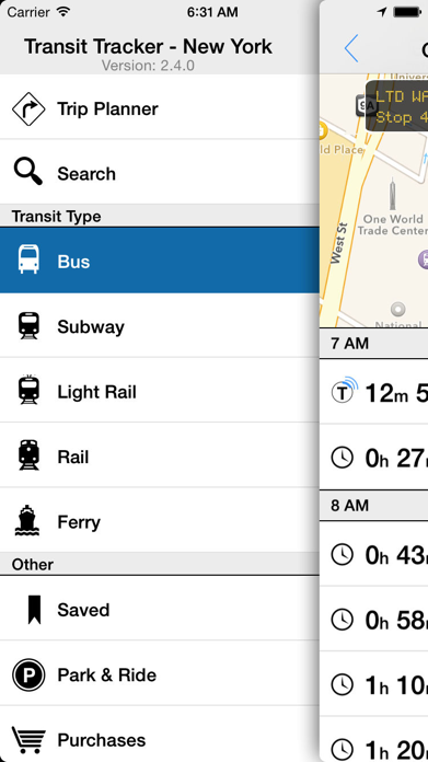 Transit Tracker - New York Screenshot