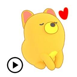 Animated Lemon Dog Sticker