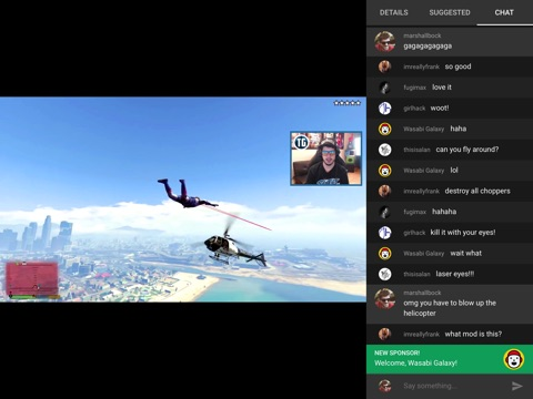 Screenshot of YouTube Gaming