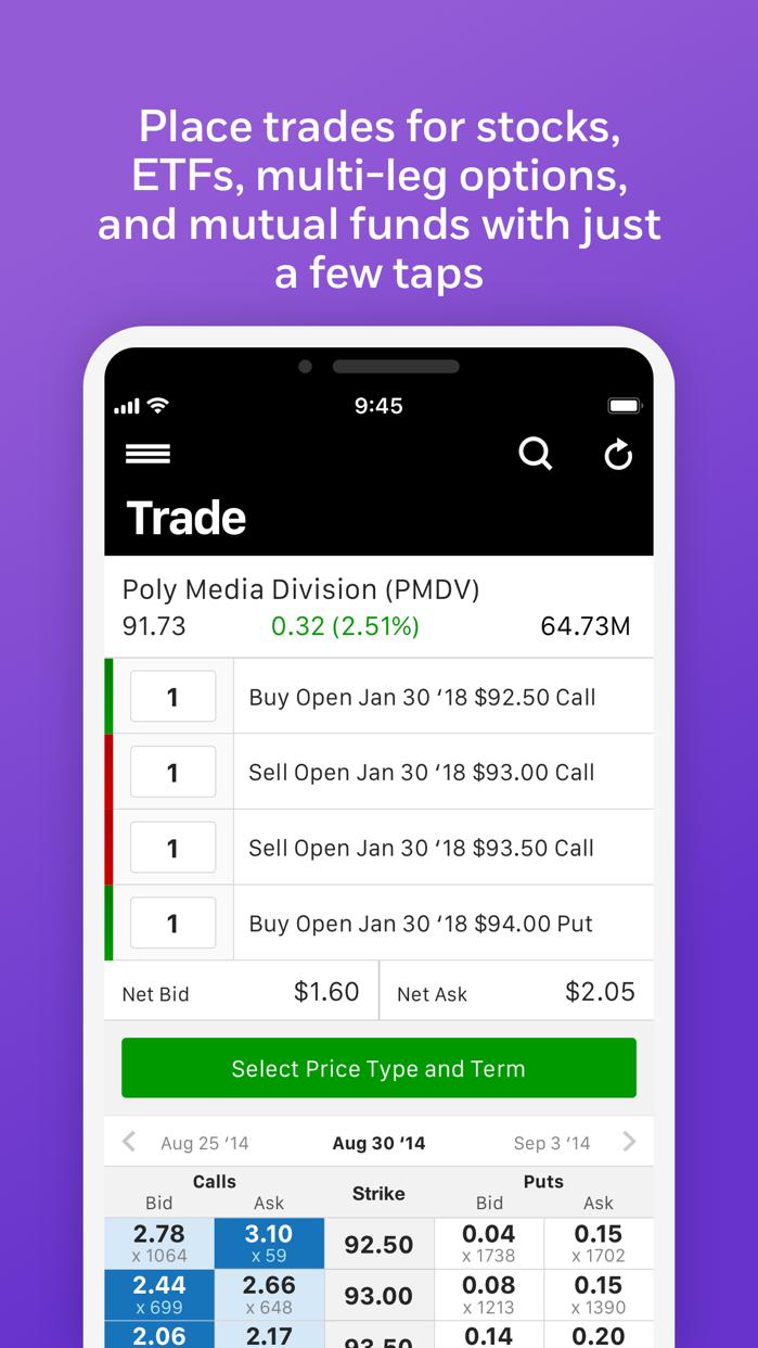 E*TRADE Mobile Screenshot