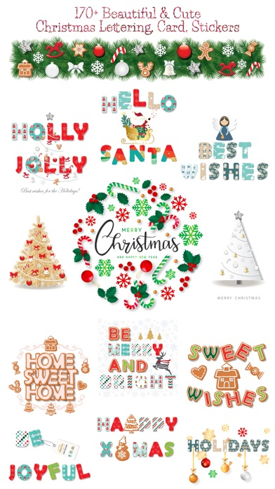 Christmas Lettering Stickers . screenshot 1