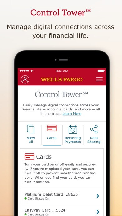 Wells Fargo Mobile review screenshots