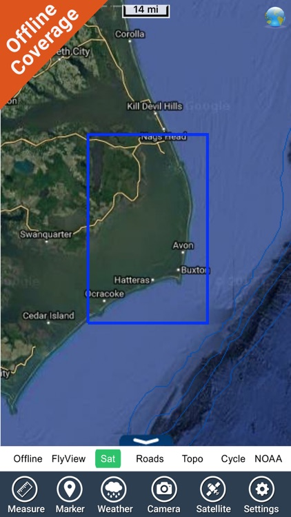 Cape Hatteras seashore charts screenshot-4
