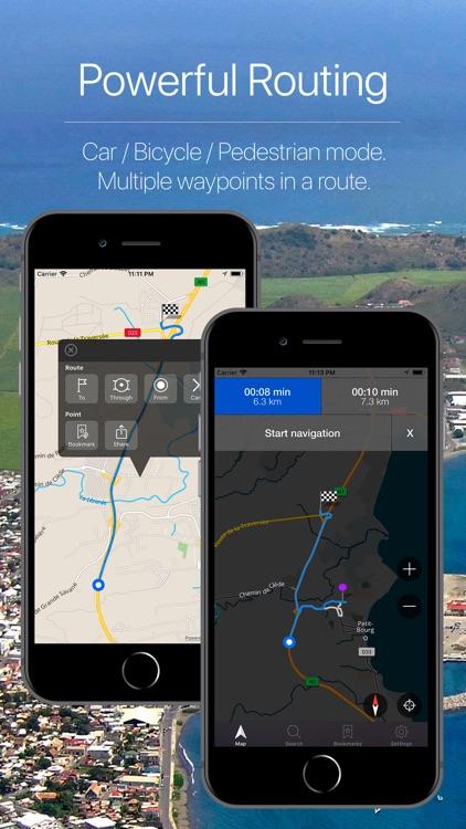 Guadeloupe Offline Navigation