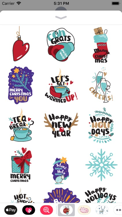Awesome Christmas Stickers screenshot-3