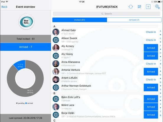 Guest List App for Events screenshot