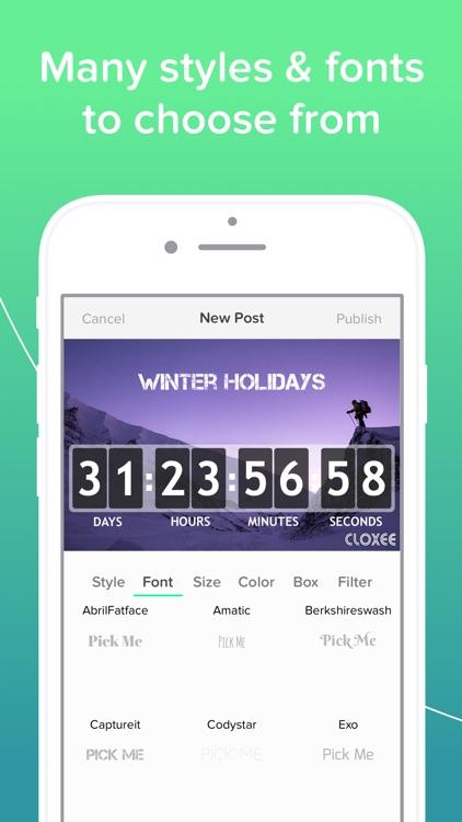 Cloxee - Countdown Widget screenshot-3