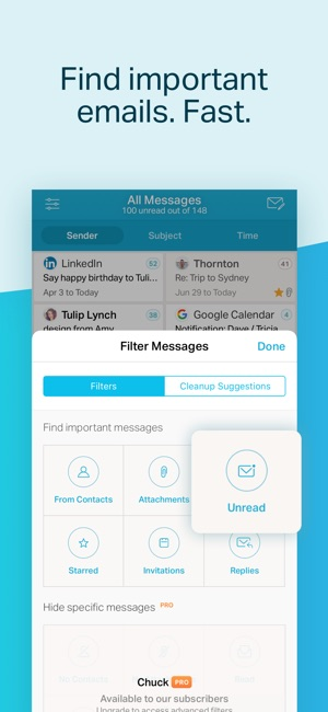 Chuck Email: Organized Mailbox on the App Store