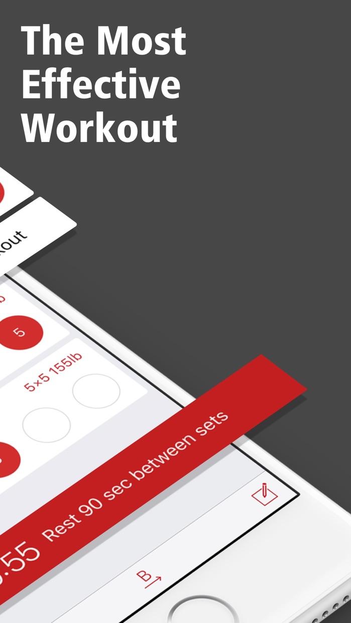 StrongLifts 5x5 Workout Log Screenshot