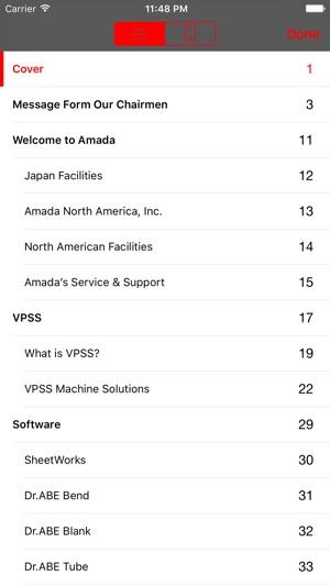 Amada Product Handbook on the App Store