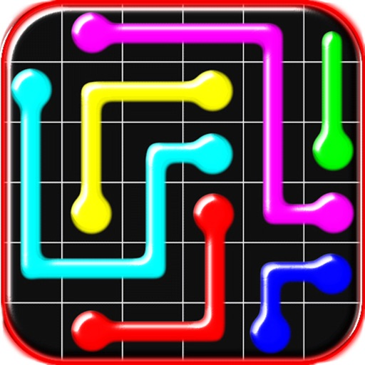 Connect colored lines - puzzle