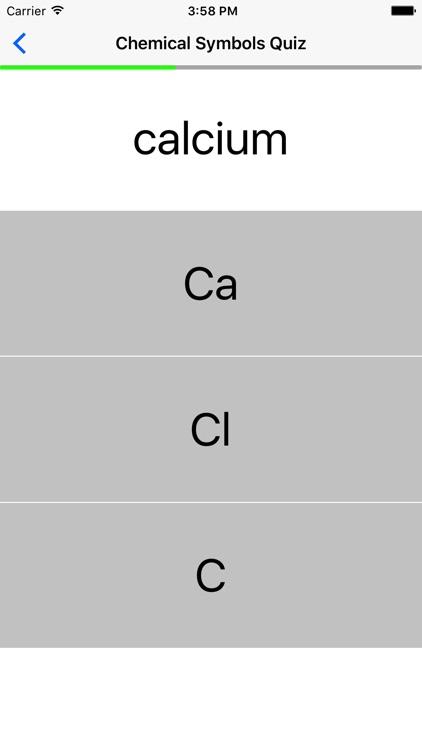 Chemical Symbols Quiz screenshot-3