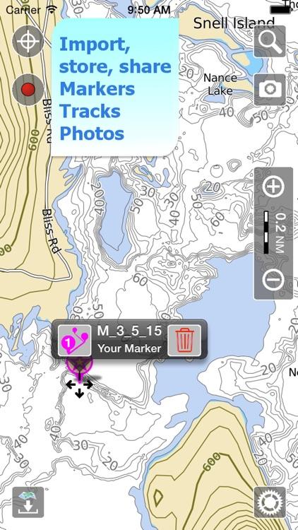 Aqua Map Massachusetts Lakes screenshot-3