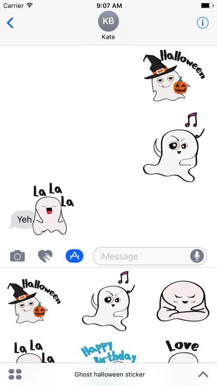 Ghost emoji and sticker