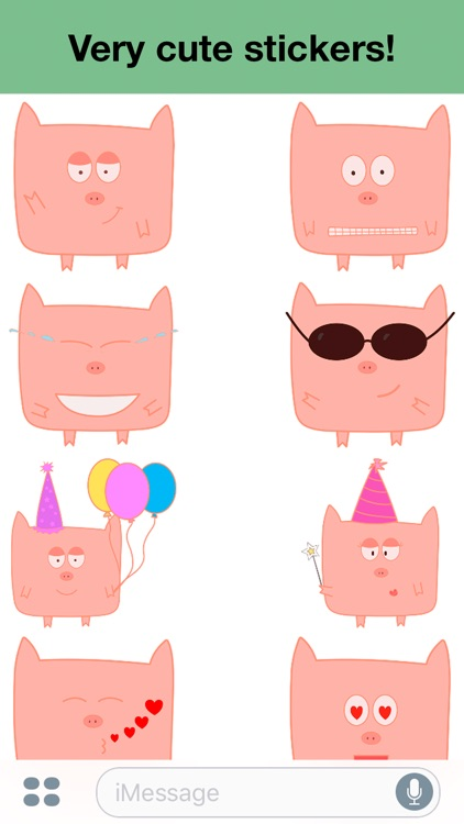 Pink Pig - Cute stickers