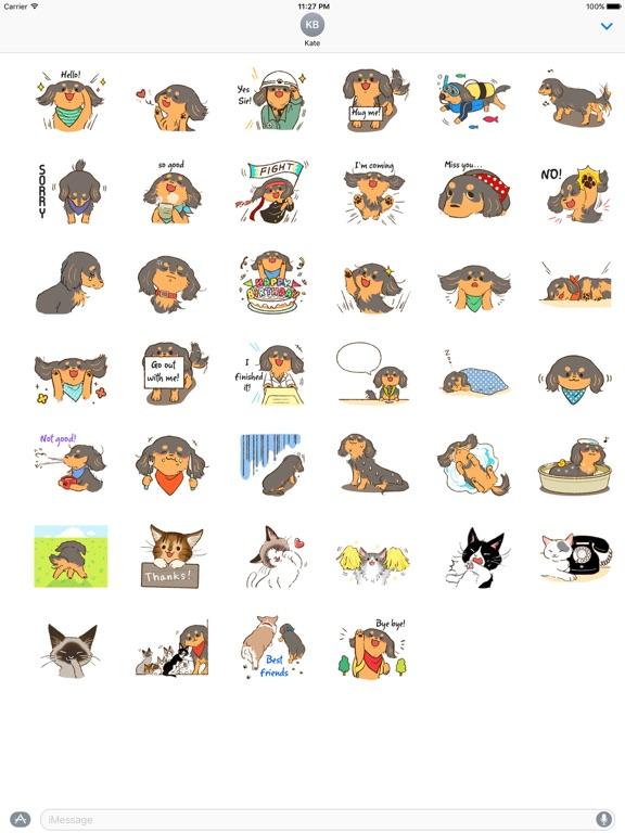 Cute Dachshund Dog Sticker screenshot 4