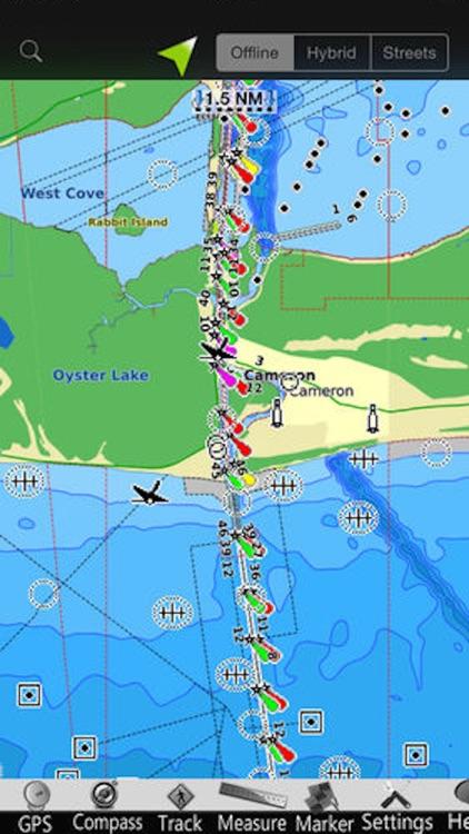 Louisiana GPS Nautical Charts screenshot-3
