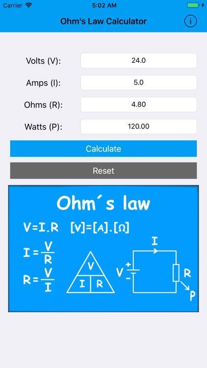 Ohm's Law Calc.