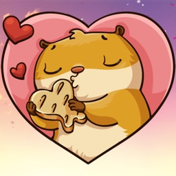 Hamster in Love! Stickers