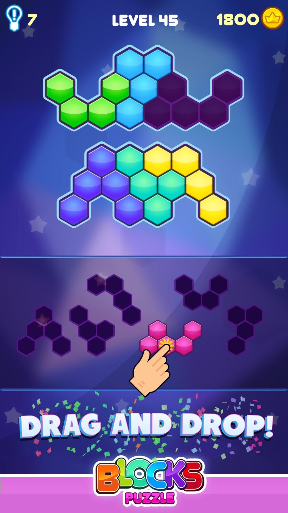 Blocks Puzzle - Hexagon Game hack tool