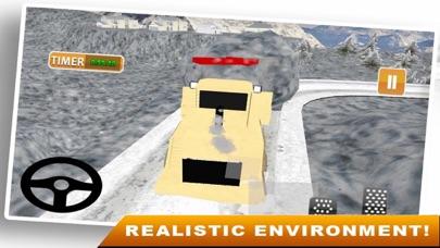 Snow Truck Drving 3D screenshot two